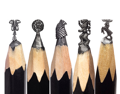 Game of Thrones a Pencil Microsculpture Exhibition
