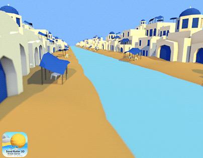 Sand Roller 3D - Santorini Environment