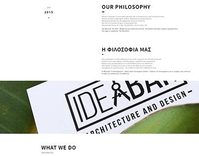 IDEABAR STUDIO WEBSITE