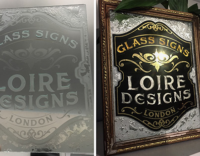 Glass gilding and etching