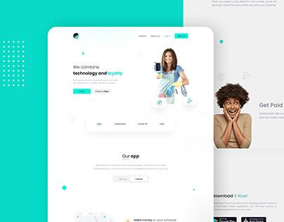 WeGoClean Website Design