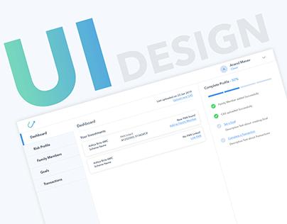 Investment Platform Dashboard UI Design