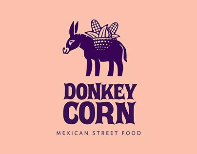 donkey corn, mexican street food