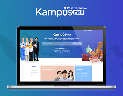 Design Mockup for Kampusmall.com