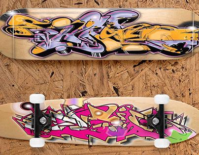 Custom SkateBoard Screen Art
