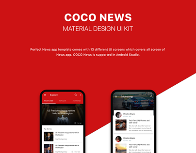 NEWS UI KIT with Android Code