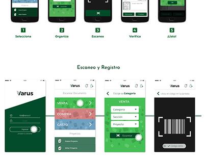 App Escaneo y registro de documentos a plataforma Varus