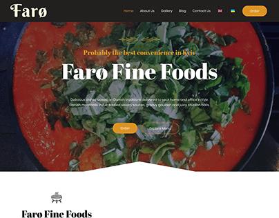 Faro Fine Foods Website