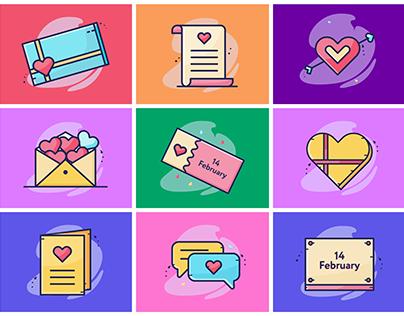 Valentine Icon Illustrations