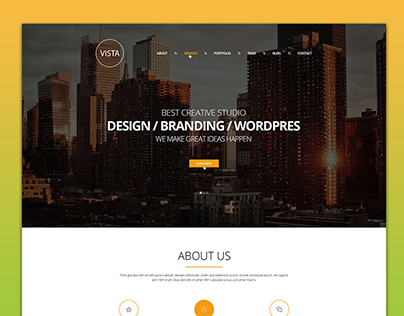 Vista Creative PSD Template