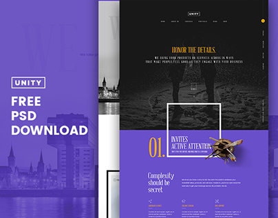 Honor - Unity Free PSD