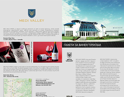 Medi Valley Winery brochure and wine pad