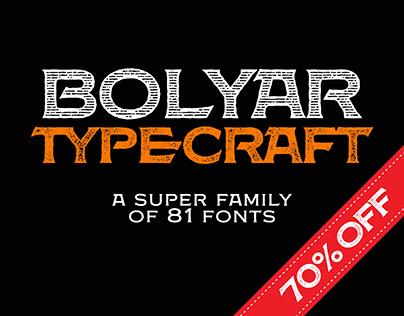 Bolyar TypeCraft Super Font Family
