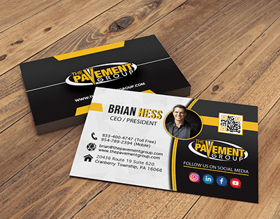 Business Card Design - The Pavement Group