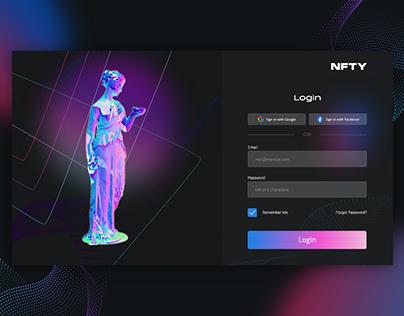 NFT Marketplace Login Screen | XD challenge