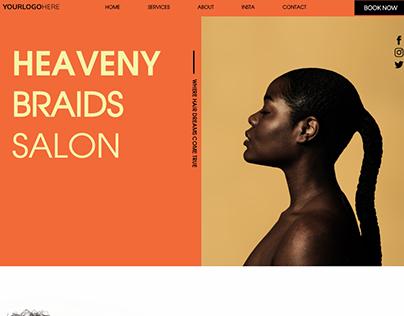 Heaveny Braids Salon Site