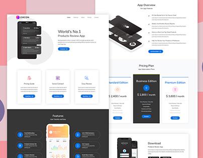 Zircon App Landing Page Template