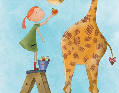 Anna and her giraffe