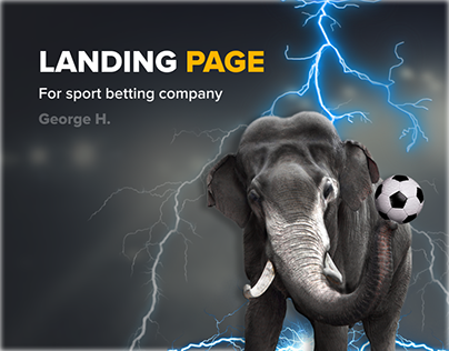 Sport Betting Landing page Slon.bet