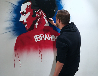 Soccer portraits wallpainting 2019