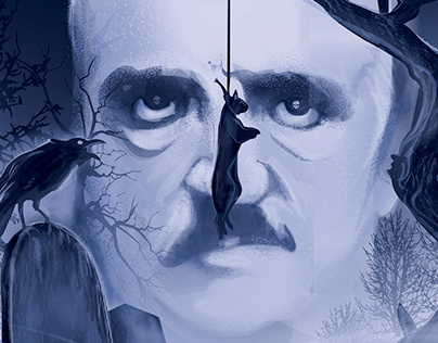 2019 SciFiNow Mag- Edgar Allan Poe- Vector Commission