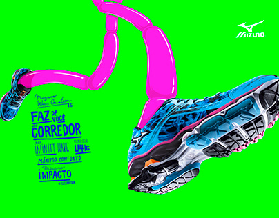 Illustrations Mizuno Wave Creation