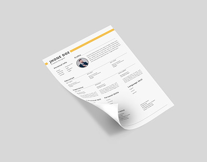Creative, clean & Professional Resume writing