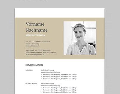 Free Resume Template | Bewerbung Muster