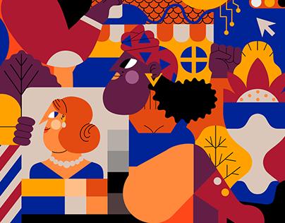 INVISION APP: Editorial Illustration