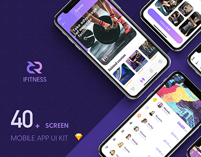 iFITNESS UI Kit - Design by Uilake