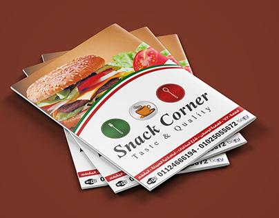 snack corner Menu منيو مطعم سناك كورنر
