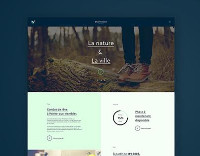 Condo Pointe-Est - Redesign web + Stratégie