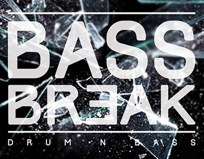 Bass Break Party Poster Design