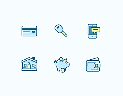 12 Financial Bank Icons
