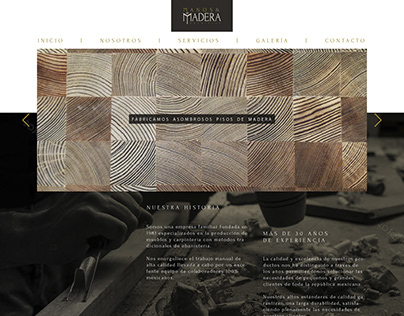 MANOS & MADERA / Web design