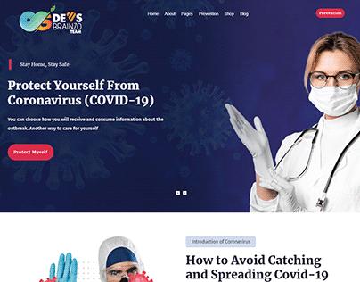 Corona Virus Responsive Website development