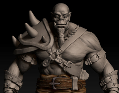 Model of an orc