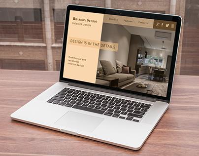 Portfolio site for studio of interior design
