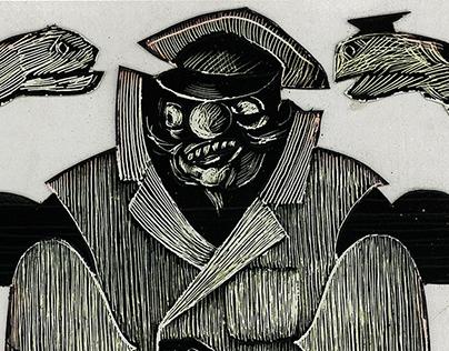 "Costume design for ""Сrimson Island"" Mikhail Bulgakov"