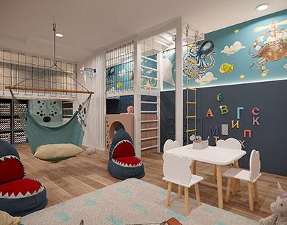 Детская игровая комната для двух мальчиков, г. Воронеж