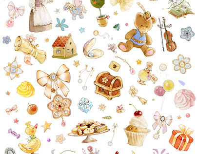 Christmas baubles watercolour