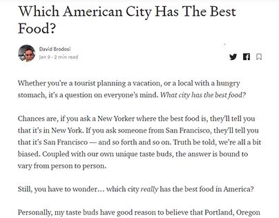 Best Food in America