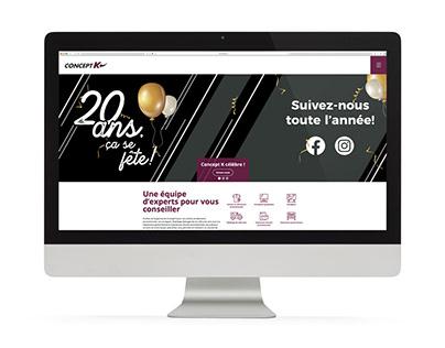 Concept K - Site web