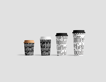 Affogato Luxury Coffee & Gelato Brand Identity