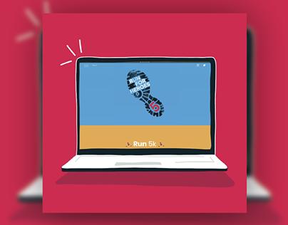 Run For Heroes • Web Design