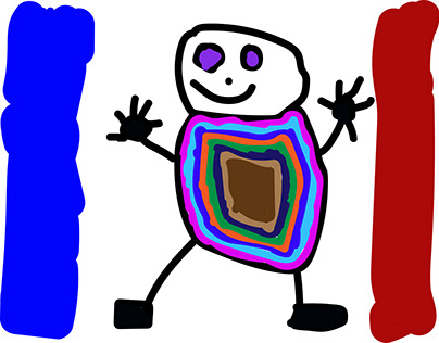 the man trapped in the french flag