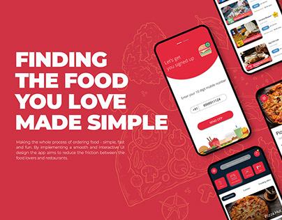 Food Ordering Mobile App | UI UX Design