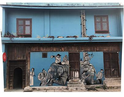 GRAFFITI - BLIND MEN AND THE ELEPHANT