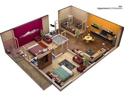Pace Apartment Sectional Views
