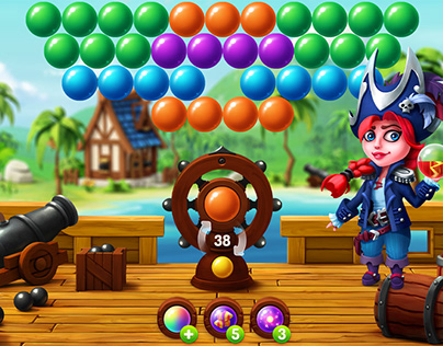 Pirate Pop Bubble Shooter Game
